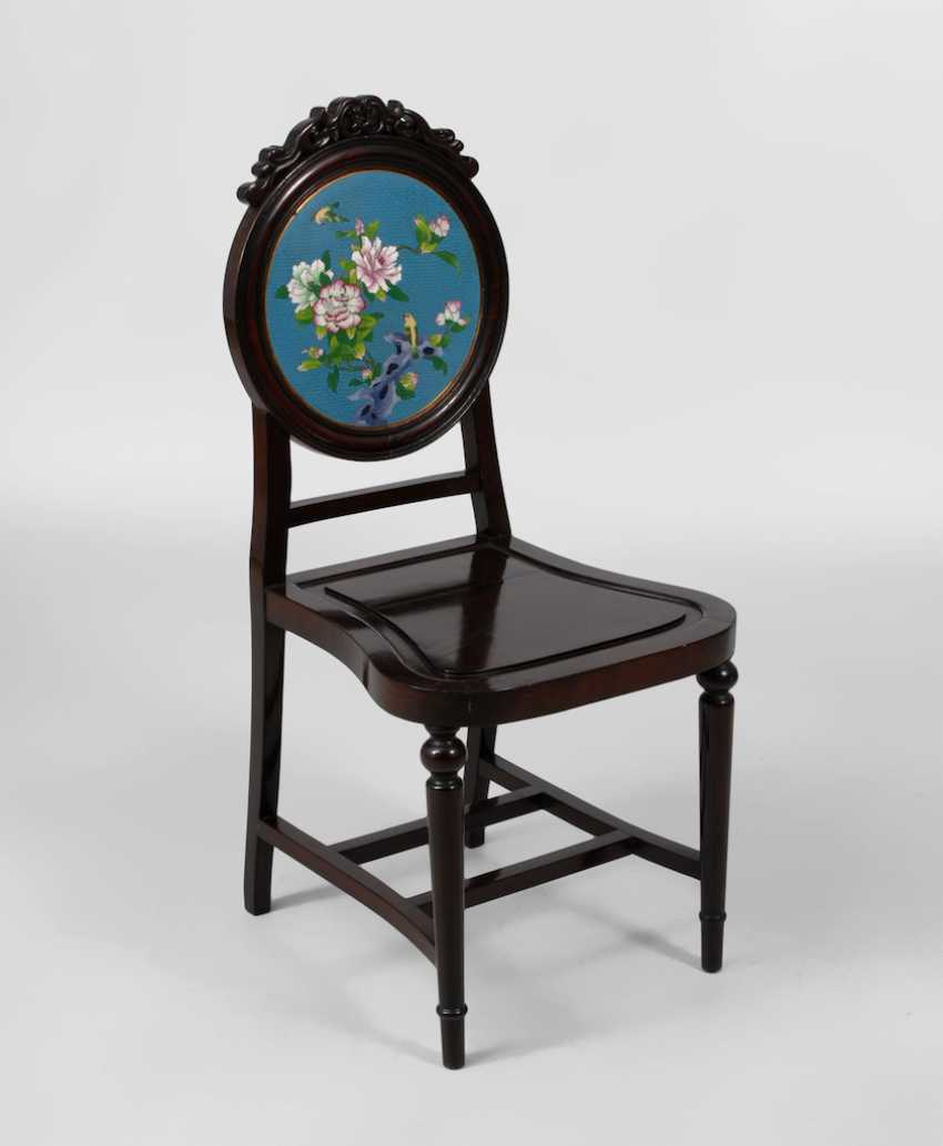 Chair with Cloisonne back plate. - photo 1