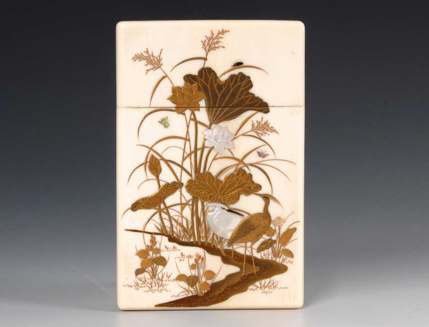 High-quality ivory case with gold paint - photo 1