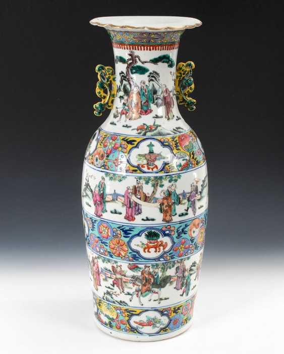 Large colored floor vase. - photo 1