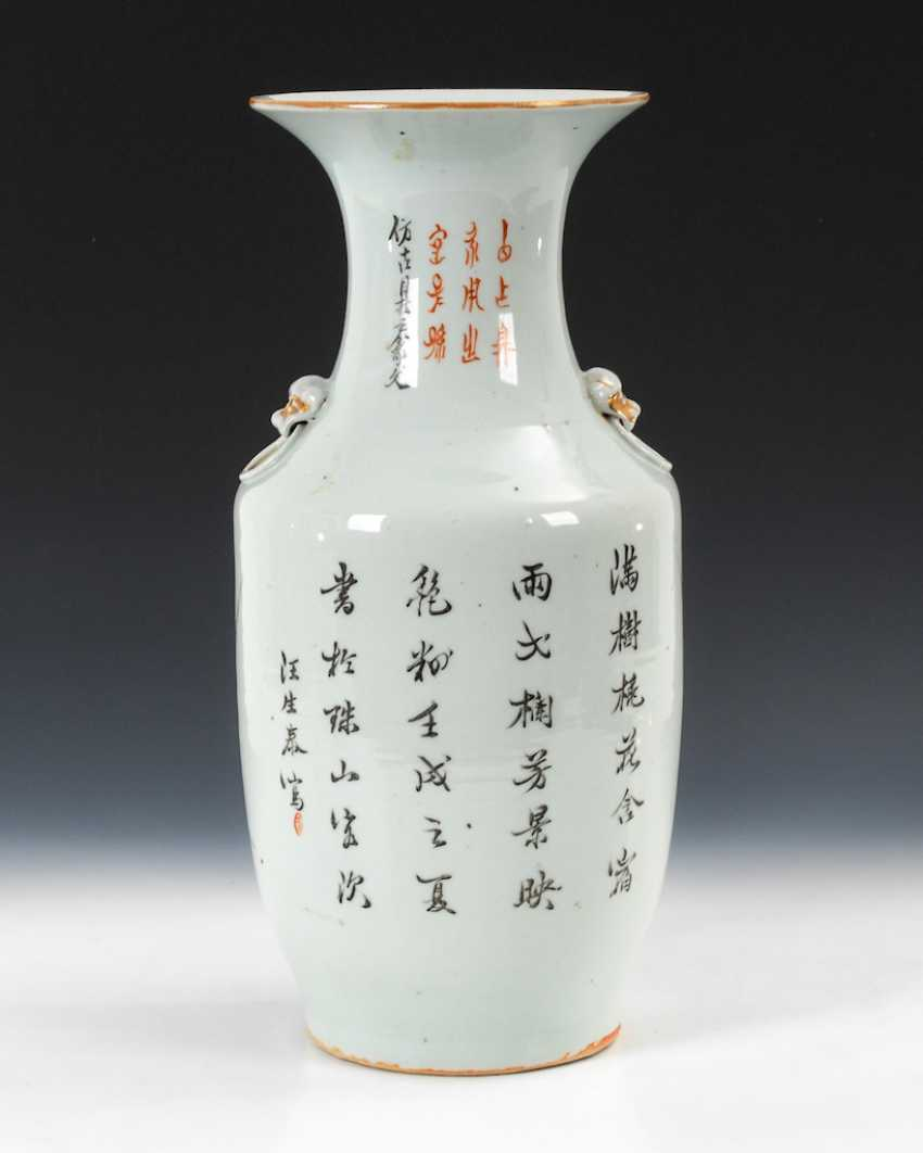 Vase with fine, figurative painting. - photo 3