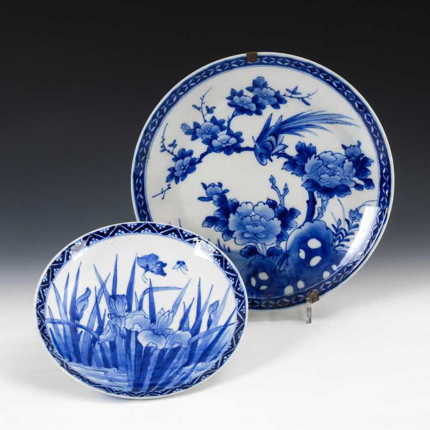 2 Japanese porcelain plates - photo 1
