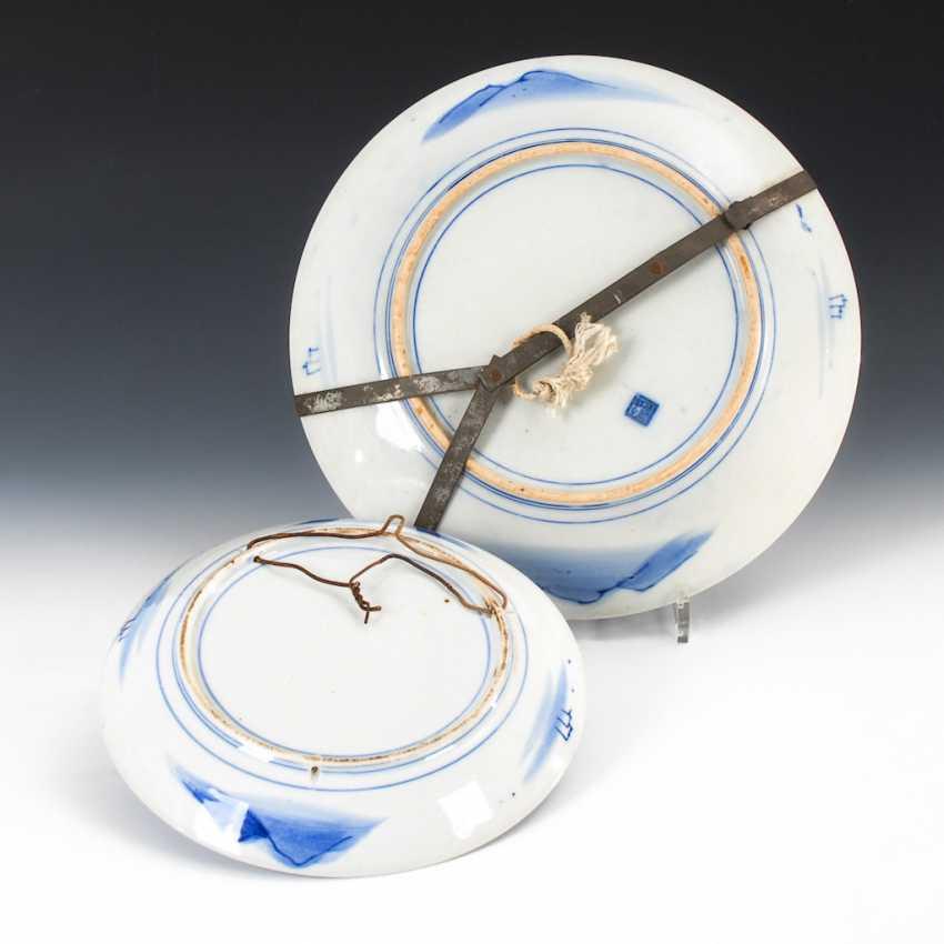 2 Japanese porcelain plates - photo 2