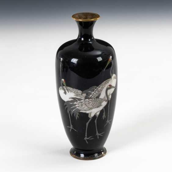 Cloisonné Vase with crane motif. - photo 1