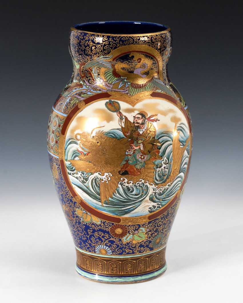 Very elaborately painted Vase with kobaltb - photo 1