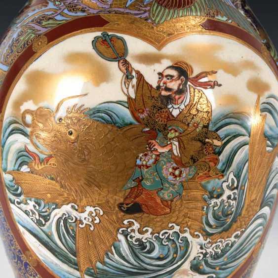 Very elaborately painted Vase with kobaltb - photo 2