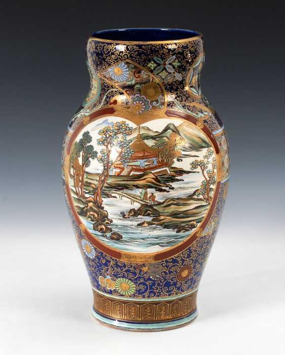 Very elaborately painted Vase with kobaltb - photo 3