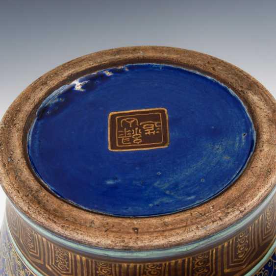 Very elaborately painted Vase with kobaltb - photo 4