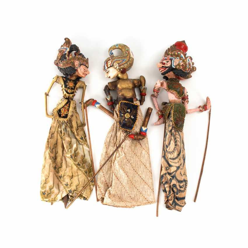 3 Wayang Golek - Stab-Marionetten. - photo 1