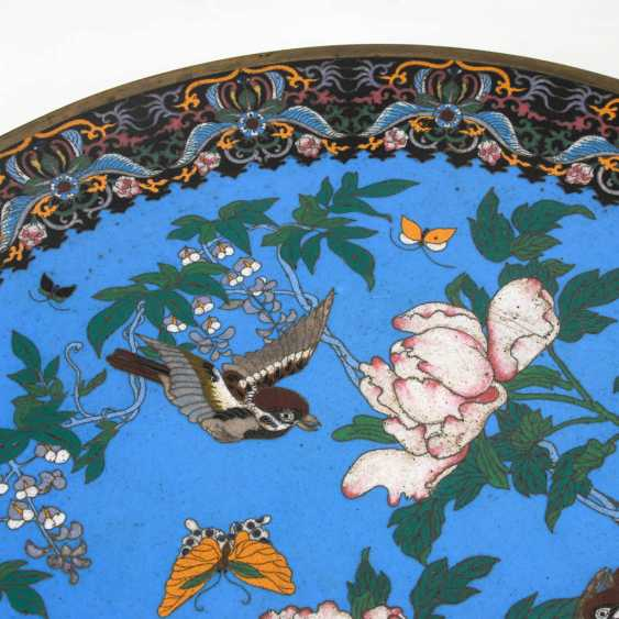 Pair of very large Cloisonné wall plate. - photo 6