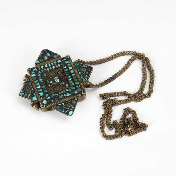 Tibetan pendant with Turquoise. - photo 1