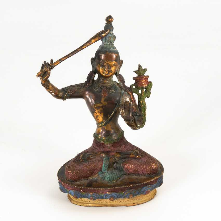 Manjushri - Bronzefigur. - photo 1