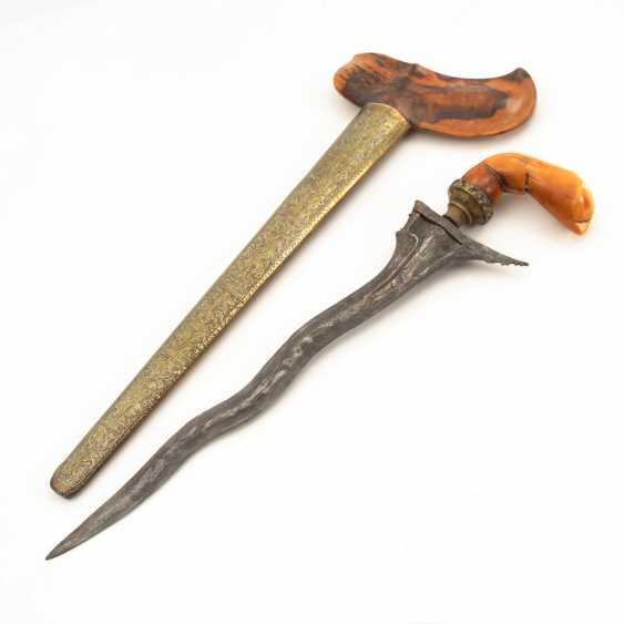 Kris / Keris Luk 5, with ivory?handle. - photo 1