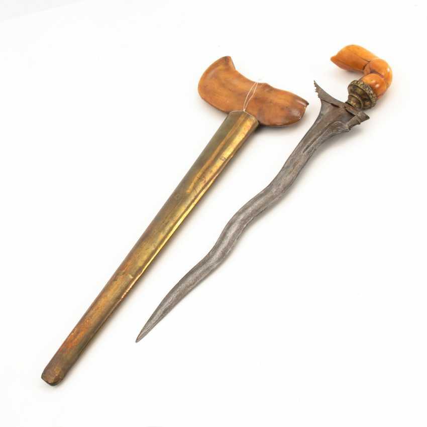 Kris / Keris Luk 5, with ivory?handle. - photo 2