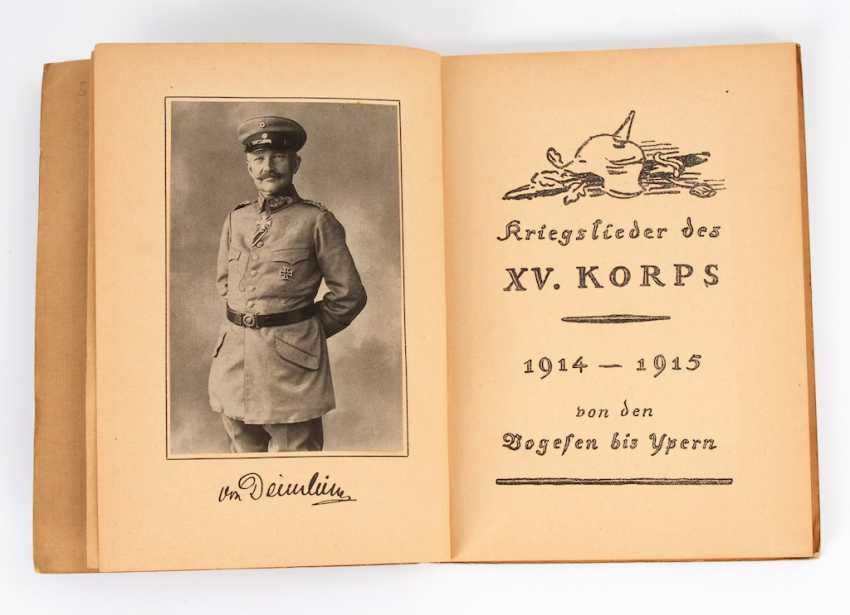 """War songs of the XV corps, 1914 - 19 - photo 1"