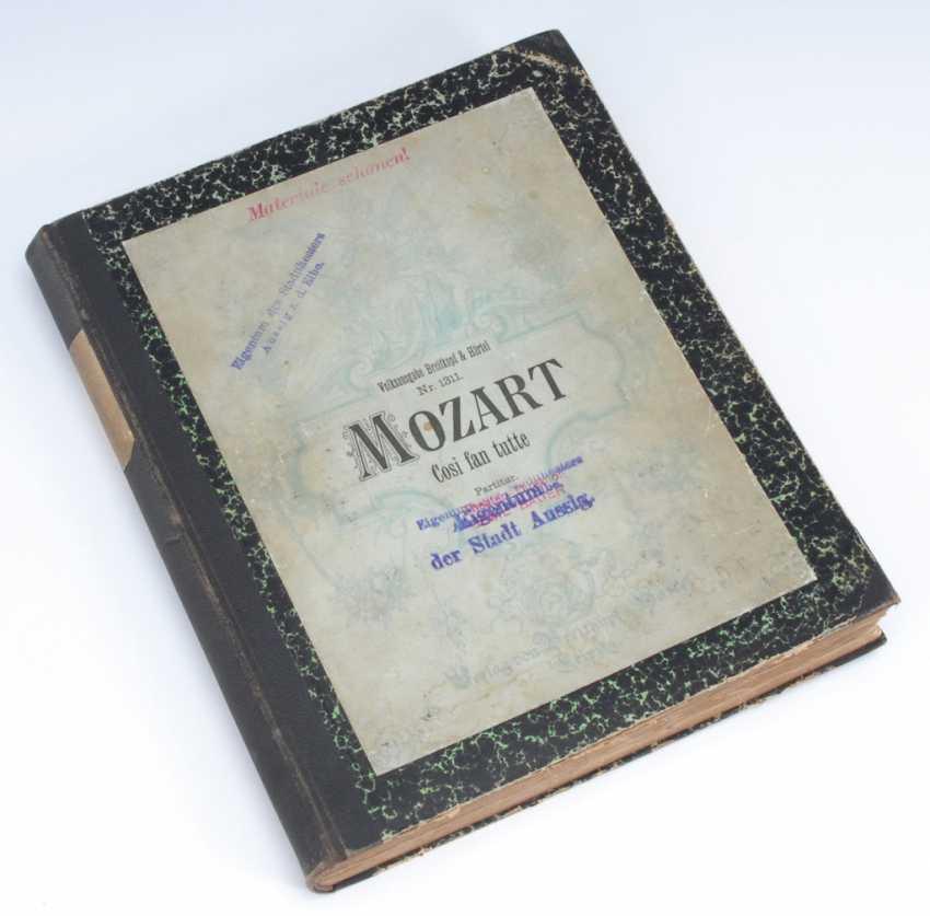 """Mozart-Partitur """"Cosi fan tutte"""". - photo 2"""
