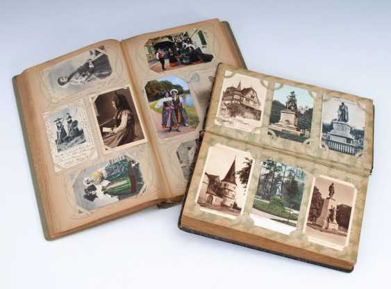 2x Postkartenalbum mit ca. 288 und 380 - Foto 1