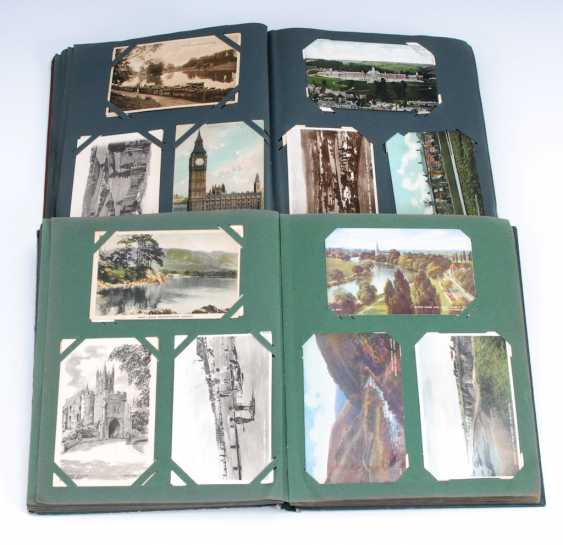 2x post card album with approx. 406 cards. - photo 1