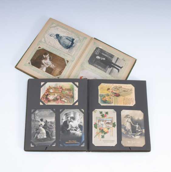 2x Postkartenalbum, zusammen ca. 308 An - Foto 1