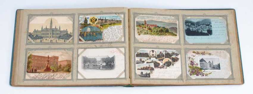 Postcard album with approximately 200 Ansichtskar - photo 1