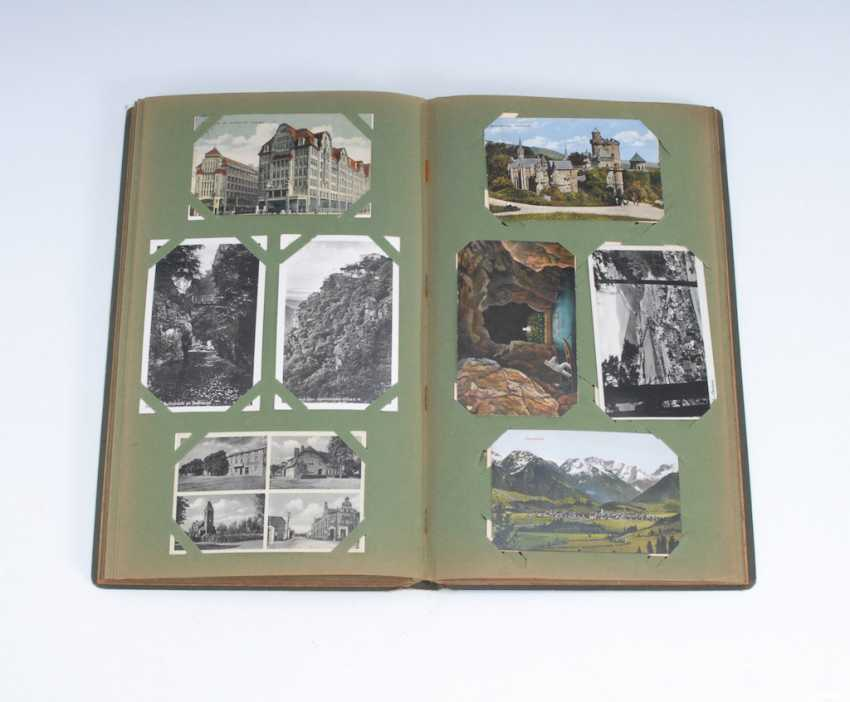 Post card album with approx 208 cards. - photo 1