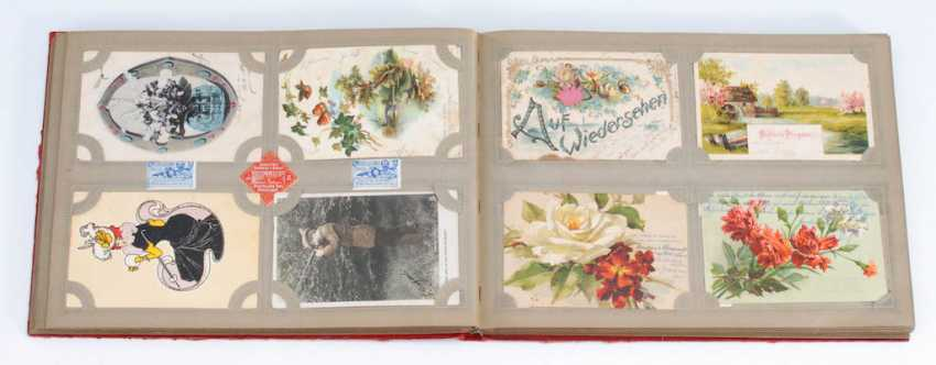 Post card album with about 312 cards. - photo 1