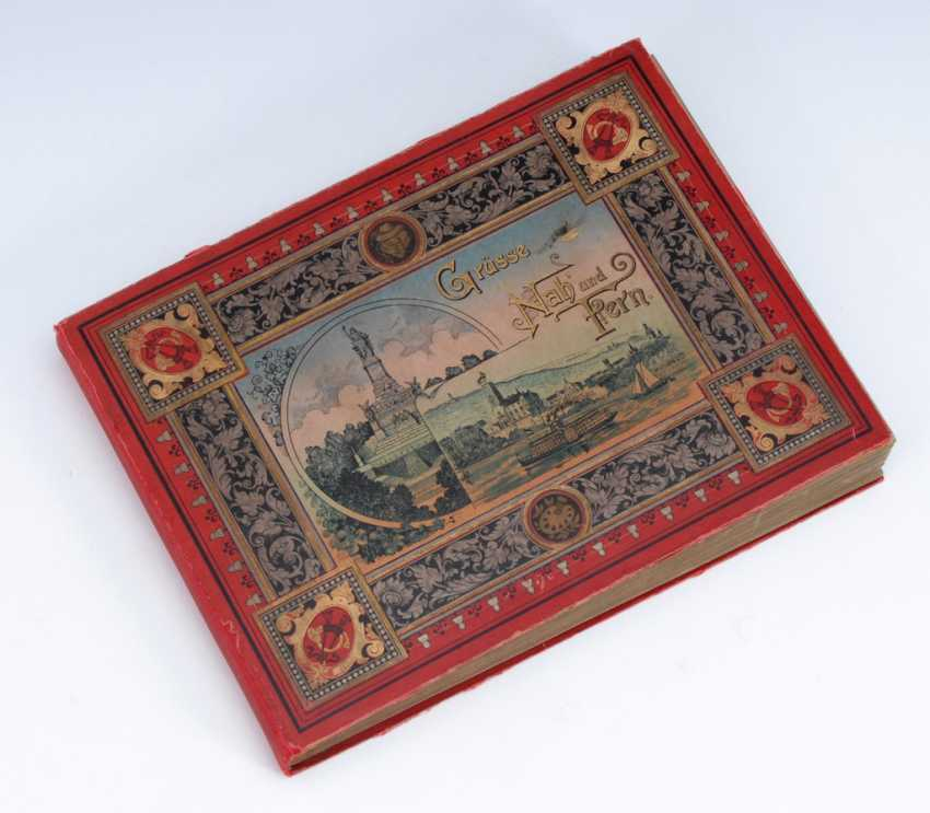 Post card album with about 312 cards. - photo 2