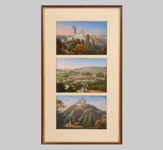 3 Landscape Colour Lithographs. - photo 1