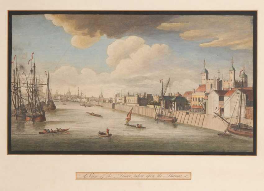 Ansicht London mit Tower und Themse. - photo 1