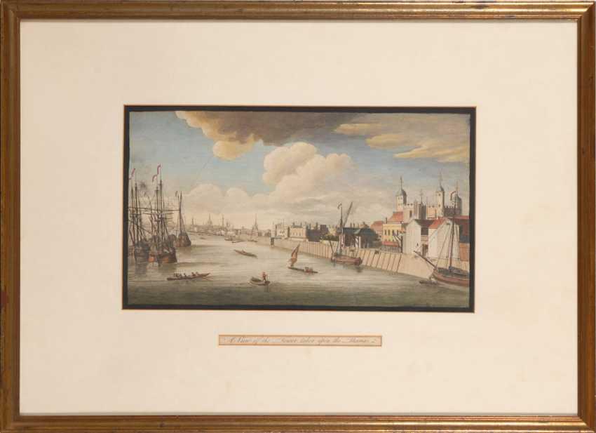 Ansicht London mit Tower und Themse. - photo 2
