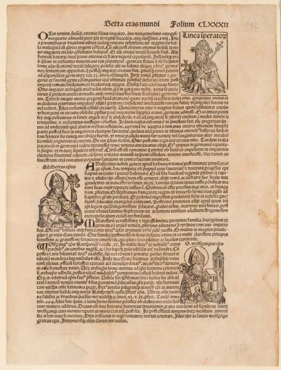 Leaf from schedel's world chronicle. - photo 1