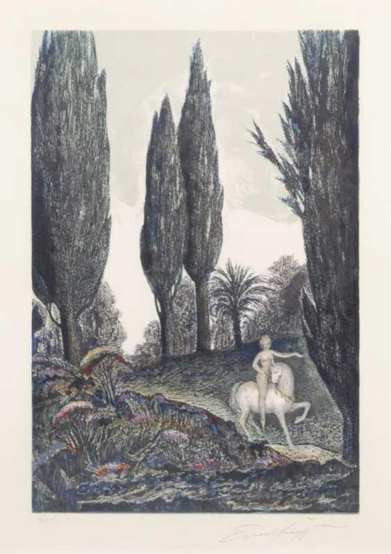 FUCHS, Ernst: Mythologische Szene. - Foto 1