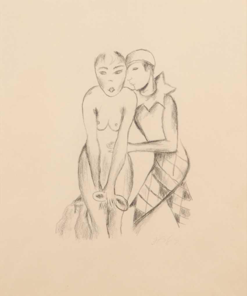 HOFER, Carl: Pierrot mit weiblichem Akt - Foto 1