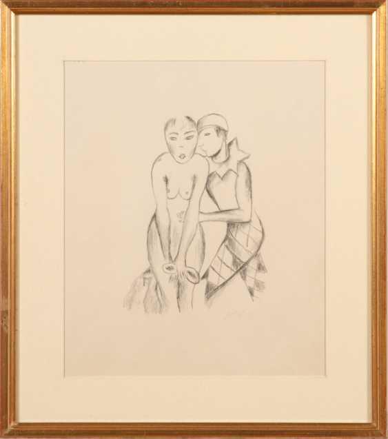 HOFER, Carl: Pierrot mit weiblichem Akt - Foto 2