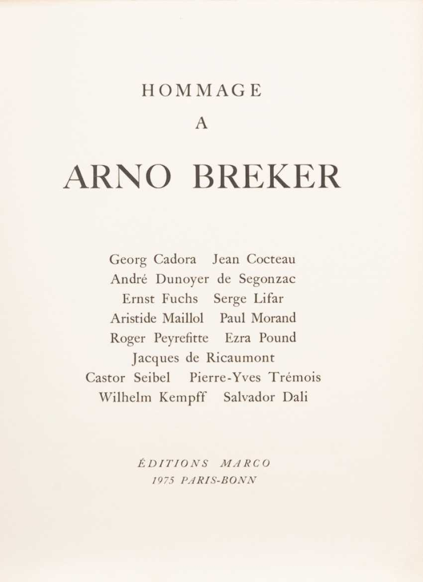 Tribute to Arno Breker. - photo 2