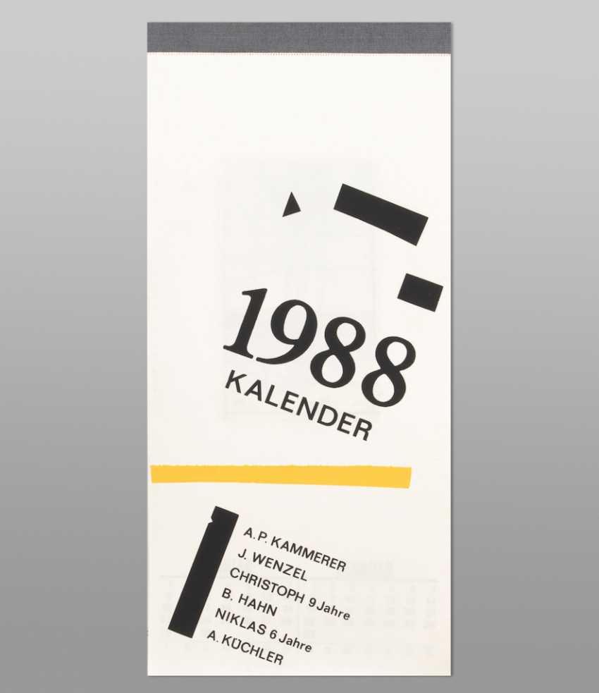 Calendar of 1988. - photo 1