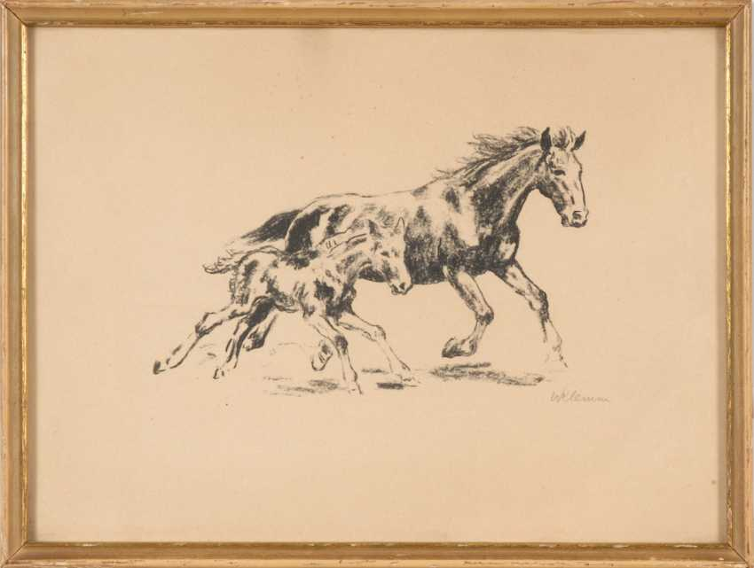 KLEMM, Walter: Mare and foal. - photo 1