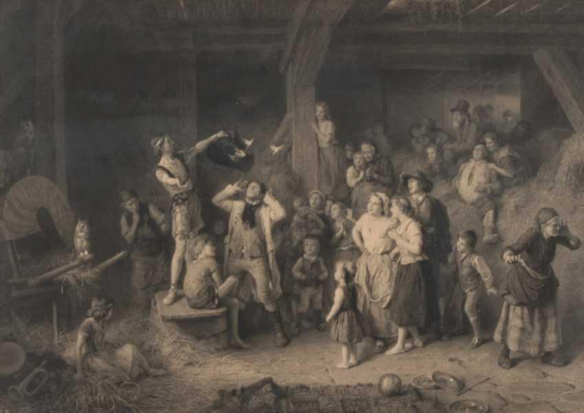 KNAUS, Ludwig: Bauerntheater. - Foto 1