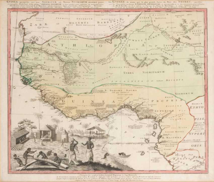 Landkarte von Äthiopien und Guinea. - Foto 1