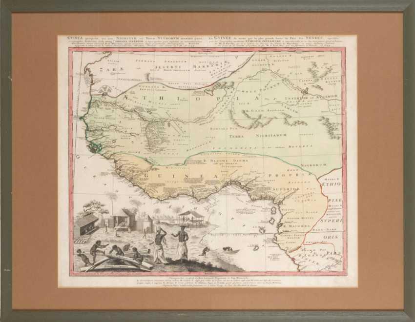 Landkarte von Äthiopien und Guinea. - Foto 2