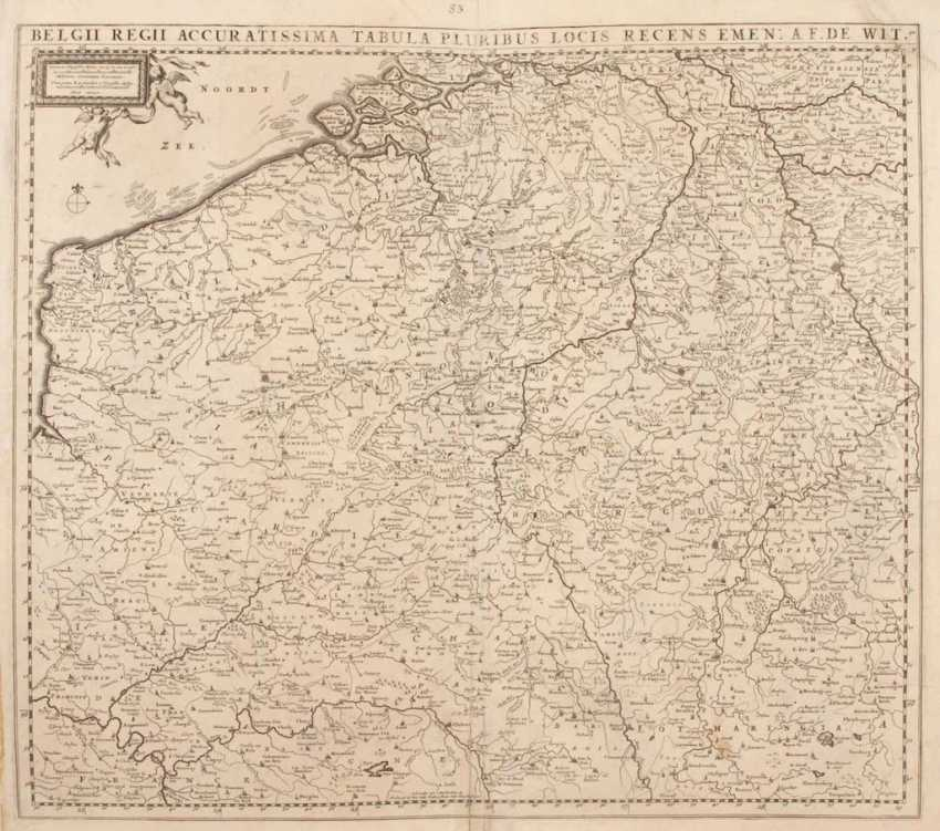 Map of Belgium - Frederik de Wit. - photo 1