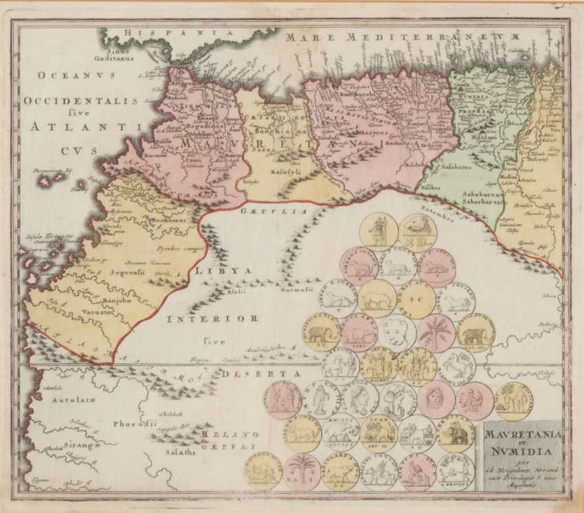 Lot 606  Map of Mauritania and Numidia - Jo from the catalog