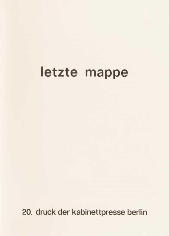 """""""letzte mappe"""" - 20. Druck der Kabinett - Foto 2"""