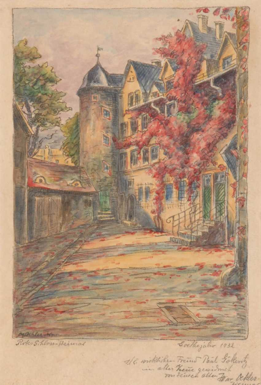 """OEHLER, Max: """"Rotes Schloss, Weimar"""". - Foto 1"""