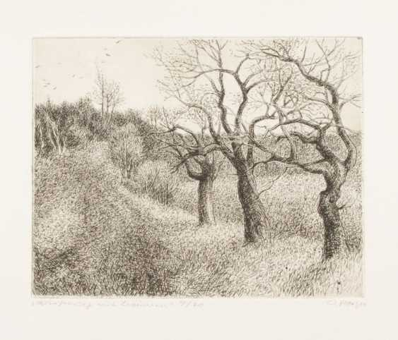 "PAETZ, Otto: ""meadow with trees"". - photo 1"