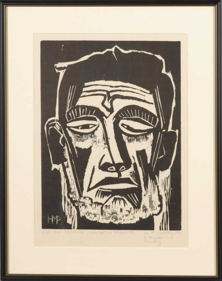 PECHSTEIN, Max: fishermen head. - photo 2