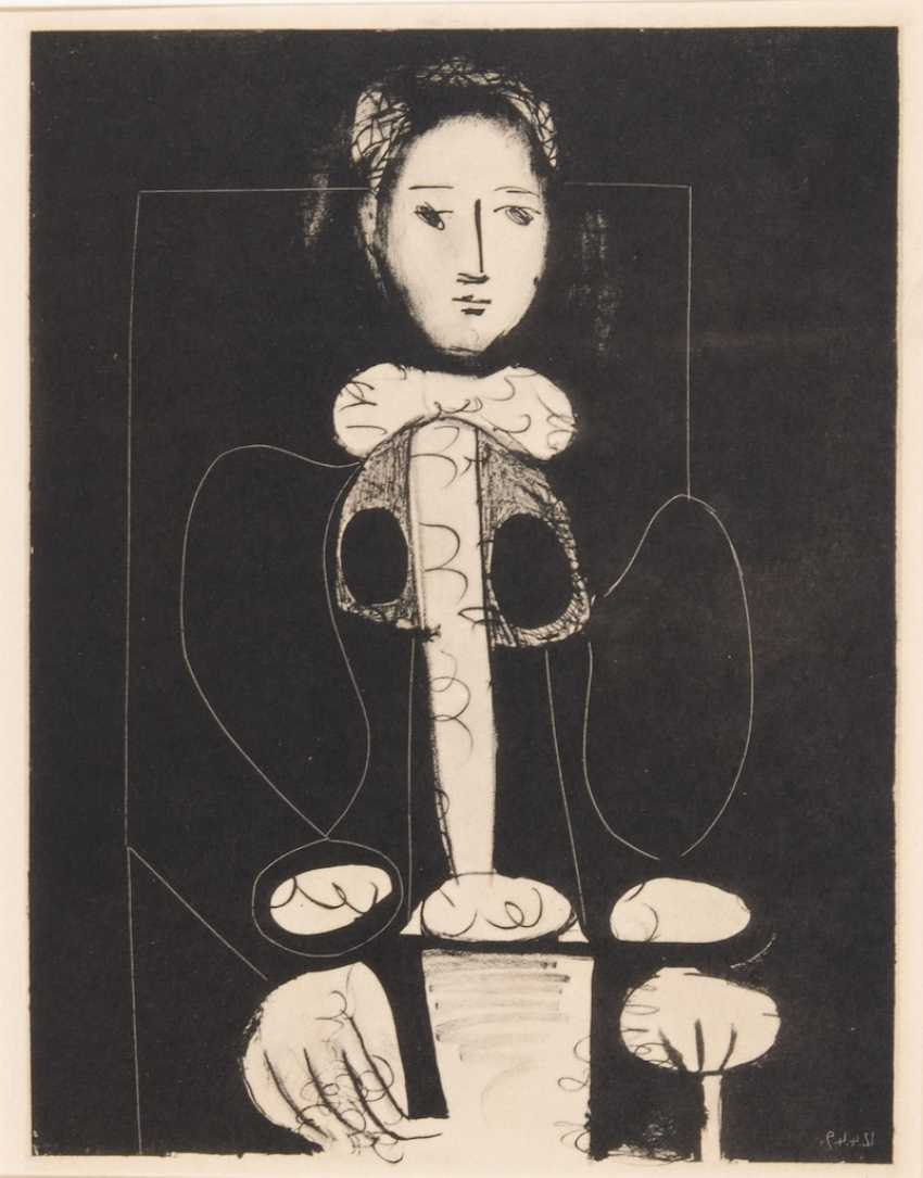 """PICASSO, Pablo: 2 sheets of the series """"Fe - photo 2"""
