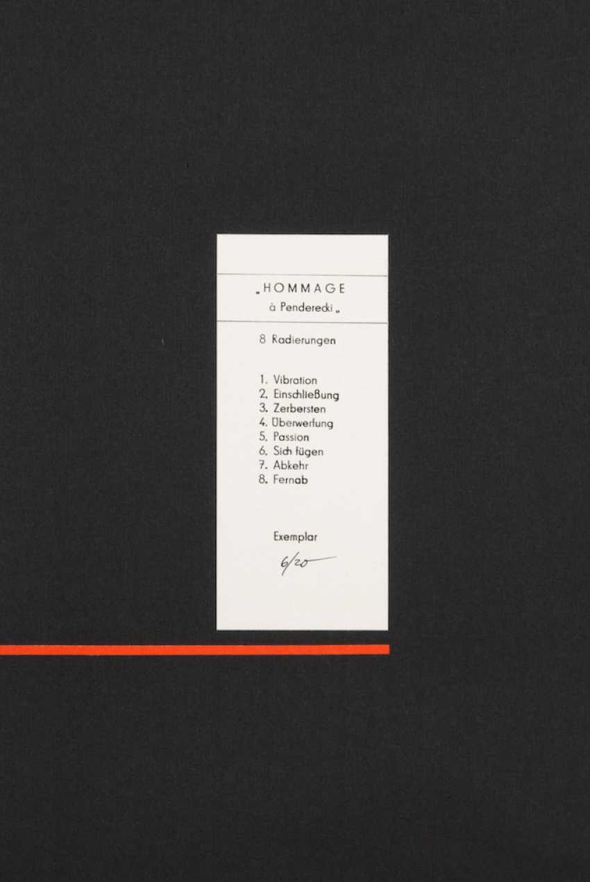 "PLANK, Heinz: ""homage to Penderecki"". - photo 3"