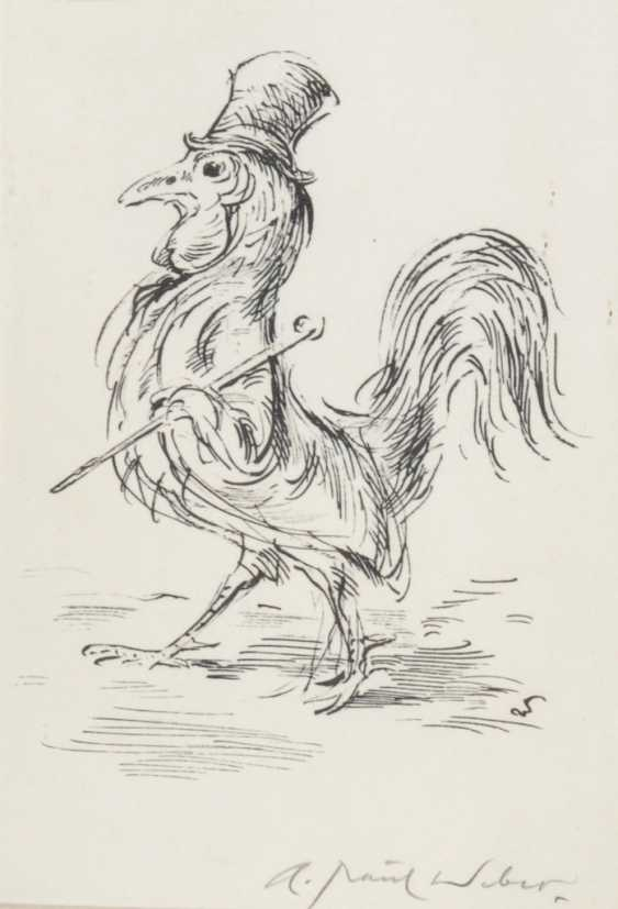 WEBER, Andreas Paul: Proud rooster. - photo 1