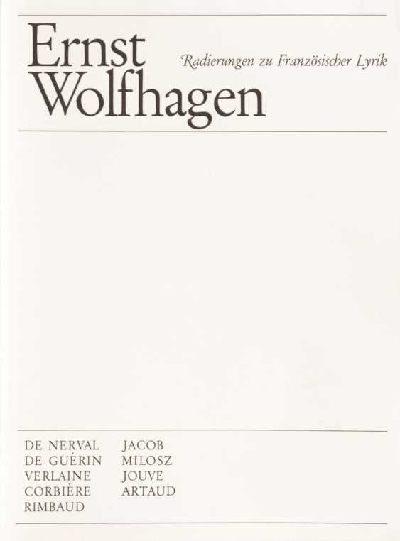Wolf Hagen, Ernst: etchings to French - photo 2
