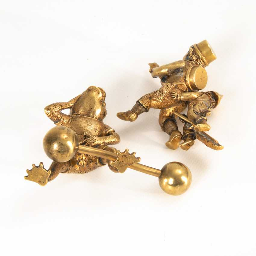 2 Bronze-Miniatures: a frog's and boys'. - photo 2